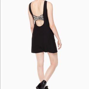 Kate Spade Black Pearl Bow Back Dress